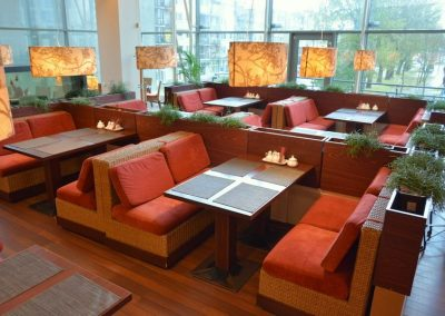 Kinų Rožė (PC Helios) Restorano staliukai