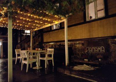 Panama food garden restoranas vakare