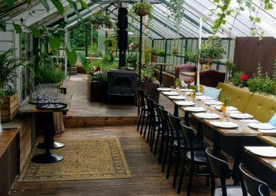 Panama food garden restorano oranžerijoje