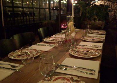 Panama food garden romantiška aplinka
